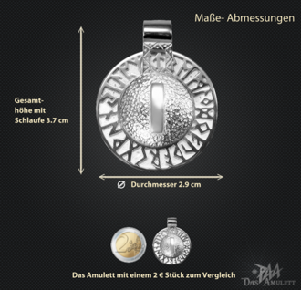 Runen-Amulett Isa aus 950/000 Platin - Vorschau 3