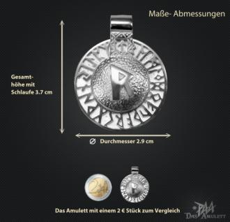 Runen-Amulett Raido aus 950/000 Platin - Vorschau 3