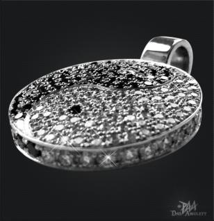 Yin Yang 950/000 Platin mit schwarzen und weißen Brillanten - Vorschau 2