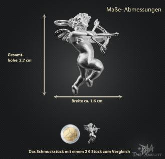 Engelanhänger mit Bogen aus 925/000 Silber - Vorschau 3