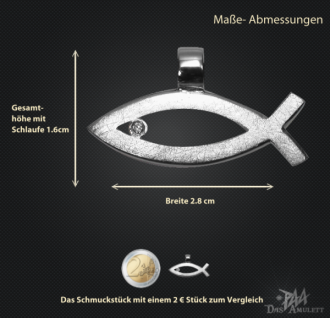 Ichthys (Jesus Fisch) 925/000 Silber mit Kautschukband - Vorschau 3