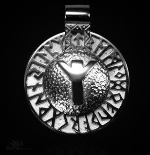Runen-Amulett Algiz aus 925/000 Silber - Vorschau 1