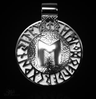 Runen-Amulett Ehwaz aus 925/000 Silber - Vorschau 1