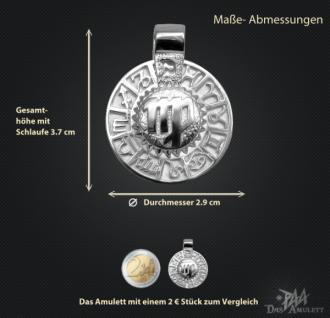 Sternzeichen Jungfrau - Tierkreiszeichen Amulett 950/000 Platin - Vorschau 3