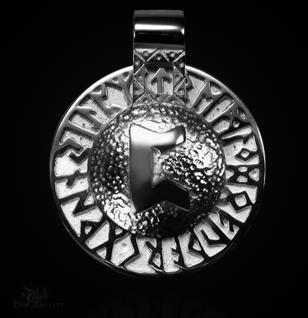 Runen-Amulett Perthro aus 950/000 Platin - Vorschau 1