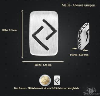 Runenplättchen/Runenstein Jera 925/000 Sterling Silber - Vorschau 3