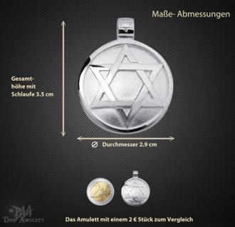Das Siegel des Salomon aus 925/000 Sterling Silber mit Kautschukband - Vorschau 3