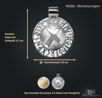 Runen-Amulett Nautiz aus 925/000 Silber - Vorschau 3