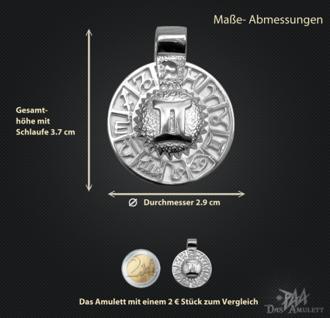 Sternzeichen Zwilling - Tierkreiszeichen Amulett 925/000 Sterlingsilber mit Kautschukband - Vorschau 3