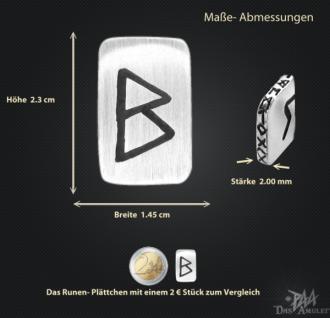 Runenplättchen/ Runenstein Berkana 925/000 Sterling Silber - Vorschau 3