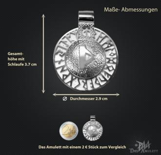 Runen-Amulett Thurisaz aus 950/000 Platin - Vorschau 3