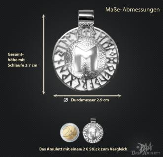 Runen-Amulett Ehwaz aus 950/000 Platin - Vorschau 3