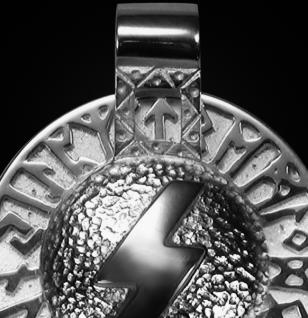 Runen-Amulett Sowilo aus 950/000 Platin - Vorschau 2