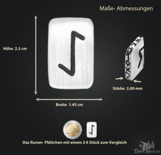 Runenplättchen/ Runenstein Eiwaz 925/000 Sterling Silber - Vorschau 3