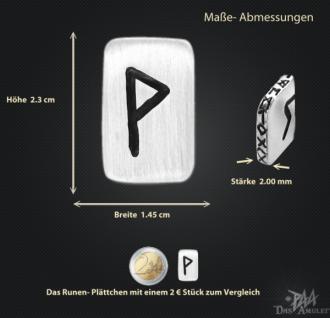 Runenplättchen/Runenstein Wunjo 925/000 Sterling Silber - Vorschau 3