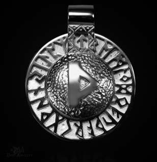 Runen-Amulett Thurisaz aus 950/000 Platin - Vorschau 1