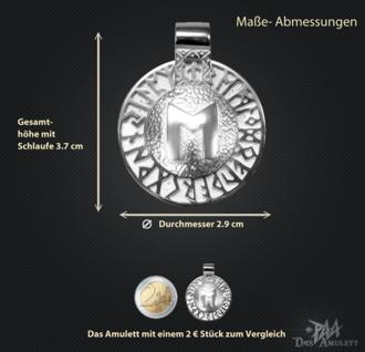 Runen-Amulett Ehwaz aus 925/000 Silber - Vorschau 3
