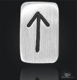 Runenplättchen/ Runenstein Tiwaz 925/000 Sterling Silber