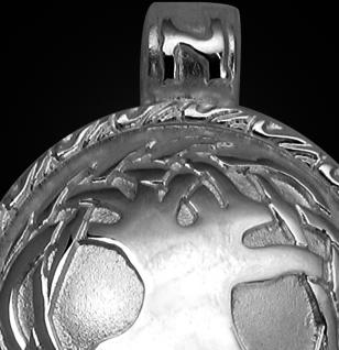 Keltischer Lebensbaum aus 925/000 Sterling Silber mit Kautschukband - Vorschau 2
