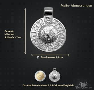 Sternzeichen Stier - Tierkreiszeichen Amulett 950/000 Platin - Vorschau 3