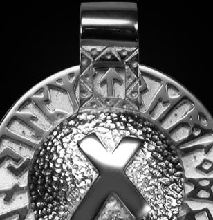 Runen-Amulett Nautiz aus 925/000 Silber - Vorschau 2