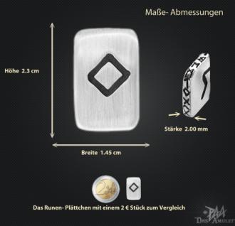 Runenplättchen/Runenstein Ingwaz 925/000 Sterling Silber - Vorschau 3