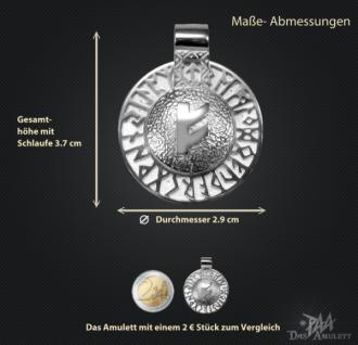 Runen-Amulett Fehu aus 950/000 Platin - Vorschau 3