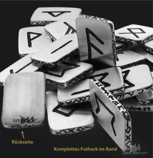 Runenplättchen/ Runenstein Elhaz 925/000 Sterling Silber - Vorschau 2