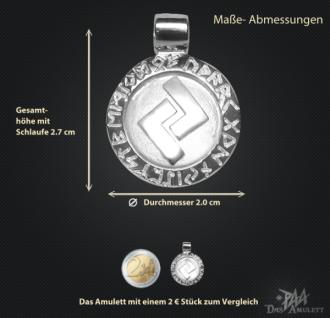 Runen-Amulett Jera ∅ 20 mm - Vorschau 2
