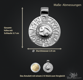 Sternzeichen Krebs - Tierkreiszeichen Amulett aus 585/000, 14 Karat Weißgold - Vorschau 3