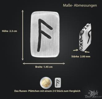 Runenplättchen/Runenstein Ansuz 925/000 Sterling Silber - Vorschau 3