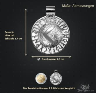 Runen-Amulett Kano (Kenaz) aus 950/000Platin - Vorschau 3