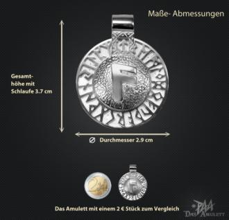 Runen-Amulett Ansuz aus 950/000 Platin - Vorschau 3