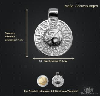 Sternzeichen Steinbock - Tierkreiszeichen Amulett bildliches Symbol 585/000 Weissgold - Vorschau 3