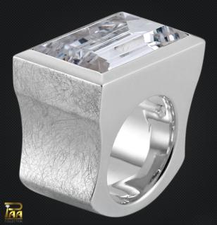 Ring Silber mit Zirkonia Baguetteschliff - Vorschau 2