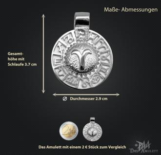 Sternzeichen Widder - Tierkreiszeichen Amulett aus 585/000, 14 Karat Weißgold - Vorschau 3