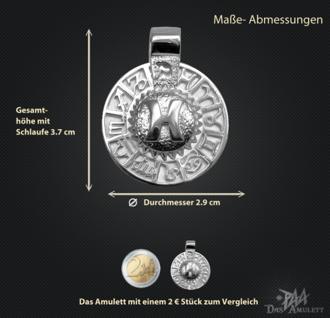 Sternzeichen Fisch - Tierkreiszeichen Amulett 925/000 Sterlingsilber bildliches Symbol mit Kautschukband - Vorschau 3