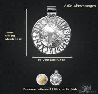 Runen-Amulett Laguz aus 950/000 Platin - Vorschau 3