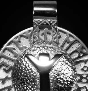 Runen-Amulett Algiz aus 925/000 Silber - Vorschau 2