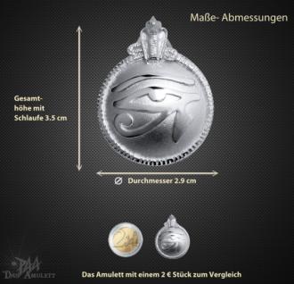Utchat Amulett aus 925/000 Sterling Silber ß29mm - Vorschau 3