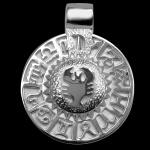 Sternzeichen Krebs - Tierkreiszeichen Amulett bildliches Symbol 585/000 Weissgold