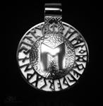 Runen-Amulett Ehwaz aus 950/000 Platin