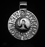Sternzeichen Löwe - Tierkreiszeichen Amulett 950/000 Platin