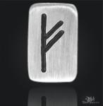 Runenplättchen/ Runensteine Fehu 925/000 Sterling Silber