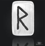 Runenplättchen/ Runenstein Raido 925/000 Sterling Silber