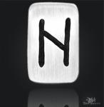 Runenplättchen/Runenstein Hagalaz 925/000 Sterling Silber