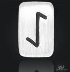 Runenplättchen/ Runenstein Eiwaz 925/000 Sterling Silber