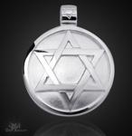 Das Siegel des Salomon aus 925/000 Sterling Silber mit Kautschukband