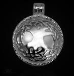Keltischer Lebensbaum aus 925/000 Sterling Silber mit Kautschukband