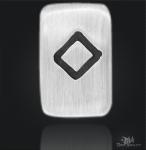 Runenplättchen/Runenstein Ingwaz 925/000 Sterling Silber